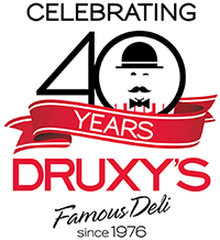Druxy's 40th Anniversary Logo